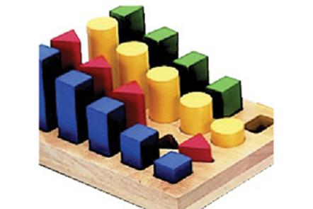 Tableros de habilidades psicomotoras figuras geométricas - Doctor's Choice
